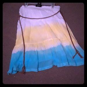 Long knee skirt